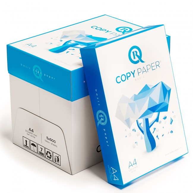 5 Topuri/Cutie Hartie Copiator A4 R CopyPaper Basic 80g/mp 500 coli/top pentru xerox si imprimanta
